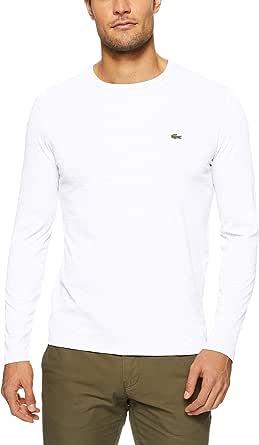 Lacoste Men's Basic Crew Neck Long Sleeve Pima T-Shirt