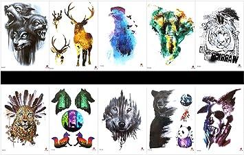 Grasshine 10 tatuajes de tigre falsos en un paquete, incluyendo ...