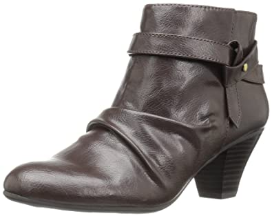 LifeStride Women's Georgette Ankle Bootie, Dark Chocolate, ...
