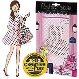 """Fashionette - LOOK n°23 - """"Polka"""" - Vestido para las muñecas de 28-30cm tipo Barbie, Steffi, Princesas Disney y Liv"""