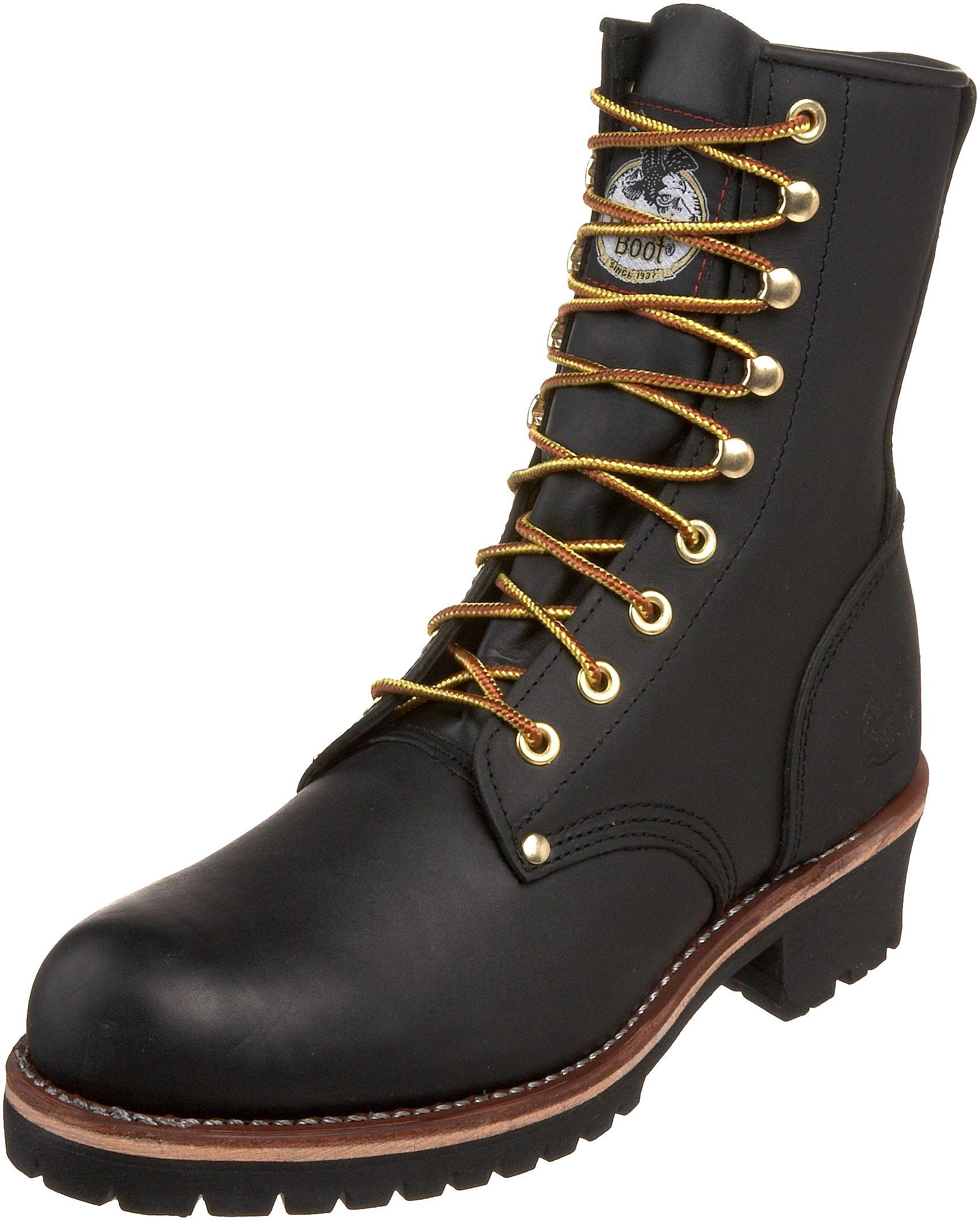 Georgia Boot Men's Logger 8'' Black Non Steel,Oily Black,5 M US