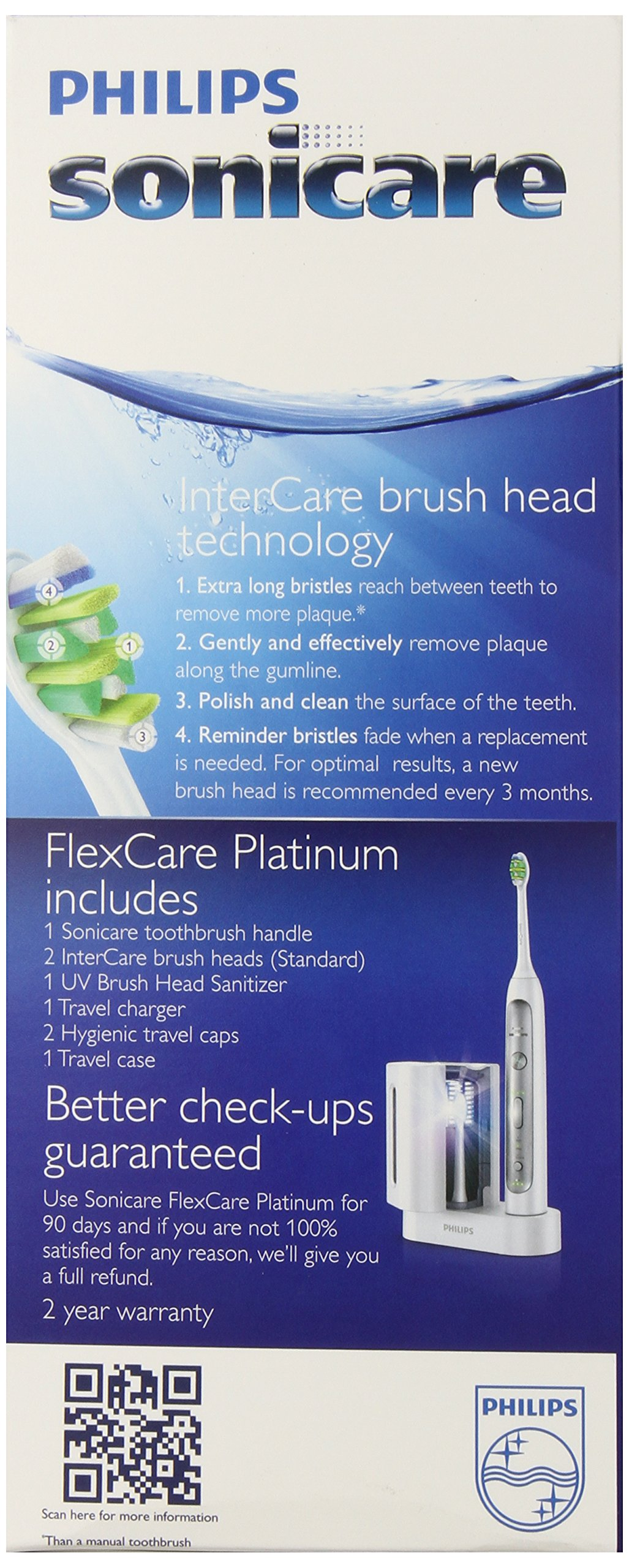 Philips Sonicare Flexcare Platinum Rechargeable Electric Toothbrush with UV Sanitizer, Model HX9170/10 by Philips Sonicare (Image #4)