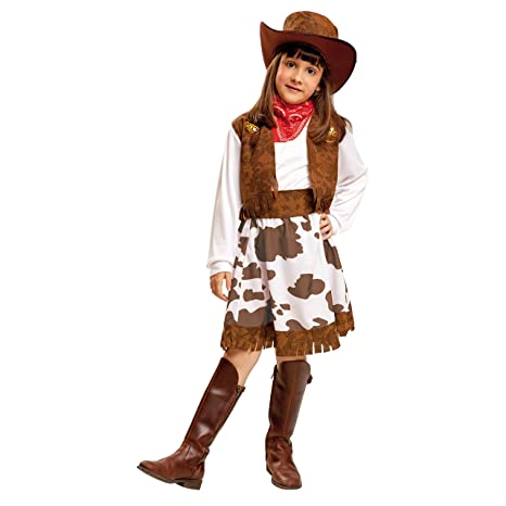 My Other Me Me-200829 Disfraz de vaquera para niña Color blanco y marrón 3 24adbf50b1b