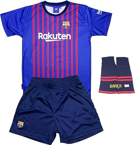 Personalizador Conjunto Complet Infantil FC Barcelona Réplica Oficial Licenciado de la Primera Equipación Temporada 2018-19 - Dorsal Messi 10 (8 años): Amazon.es: Deportes y aire libre