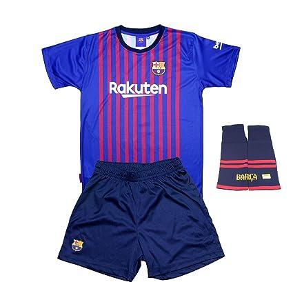 aedbe2cdb6 FC. Barcelona Conjunto Completo Infantil Réplica Oficial Licenciado de la  Primera Equipación Temporada 2018-