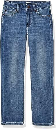 Amazon Essentials Jeans elásticos de Ajuste Recto Niños