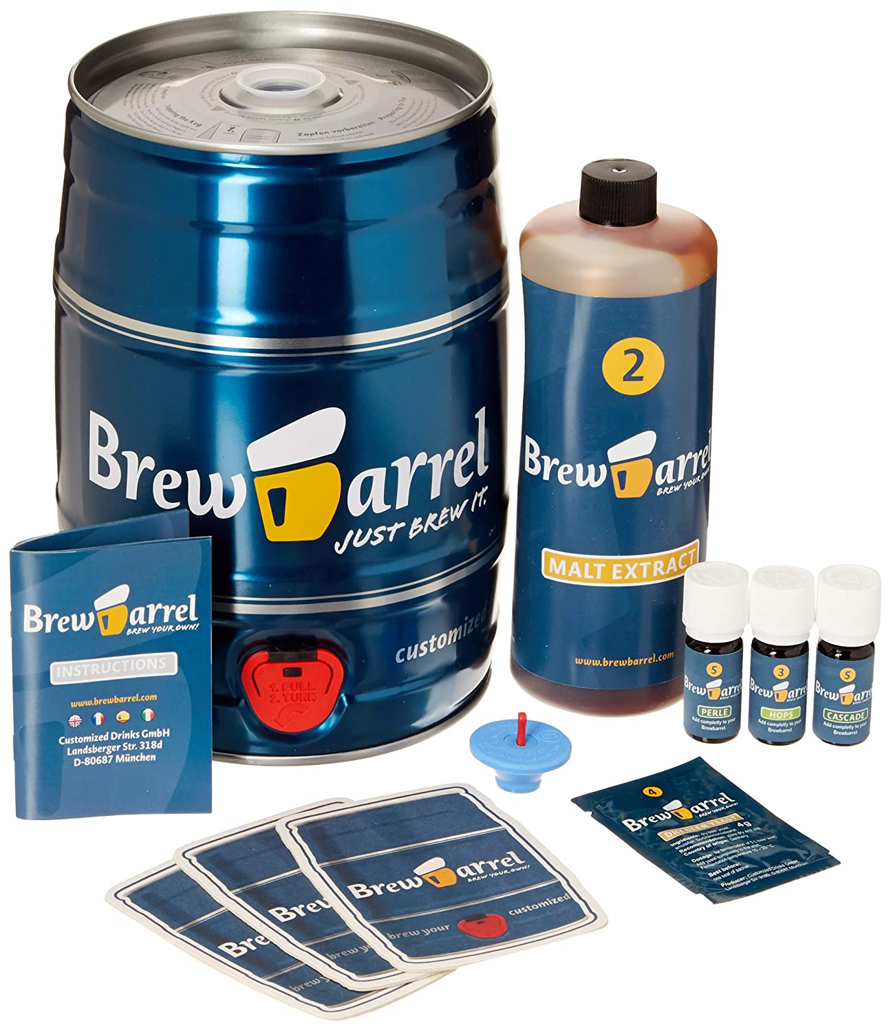 Brewbarrel Home Beer Brewing Starter Kit, India Pale Ale Dr. Know COMINHKPR108700