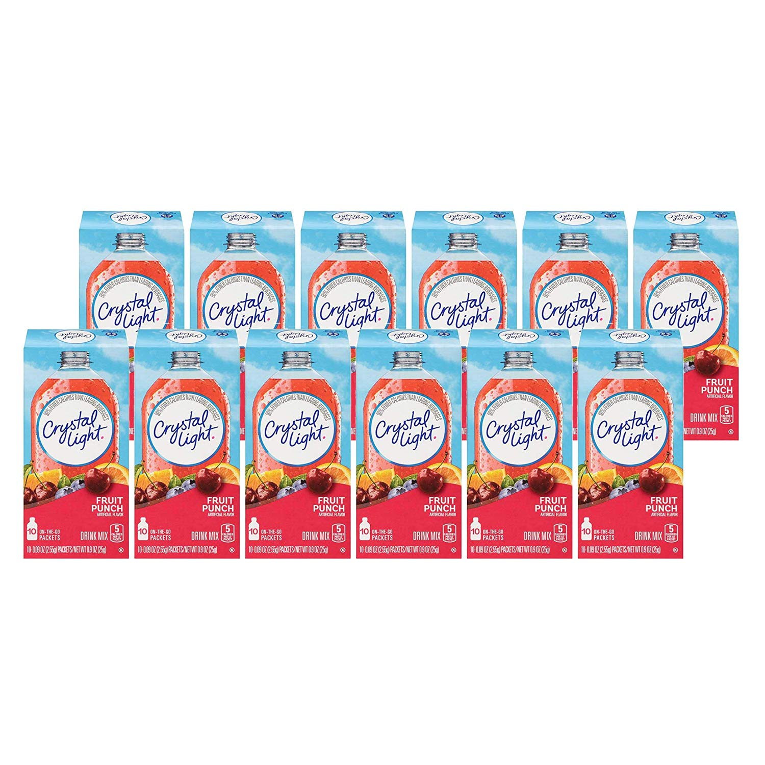 Crystal Light Drink Mix, On The Go Packets, (Fruit Punch, 12 - Pack,120 Count)