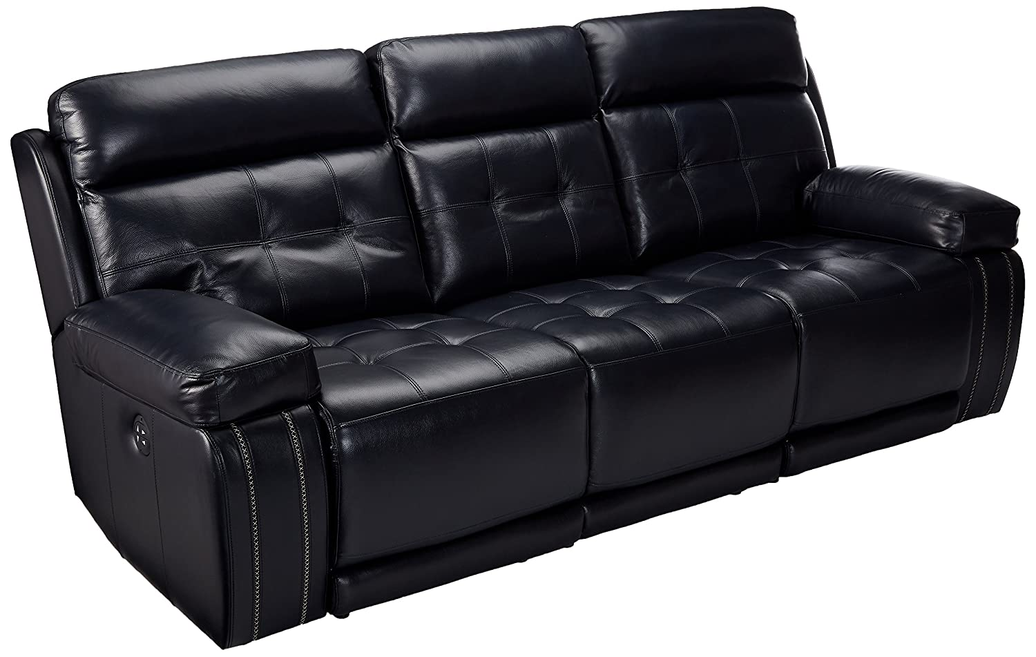 Graford Leather Power Sofa w/Adjustable Headrest