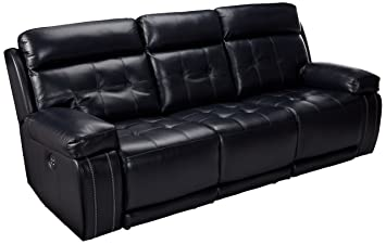 Awesome Signature Design By Ashley Graford Navy Power Reclining Sofa With Adjustable Headrest Ibusinesslaw Wood Chair Design Ideas Ibusinesslaworg