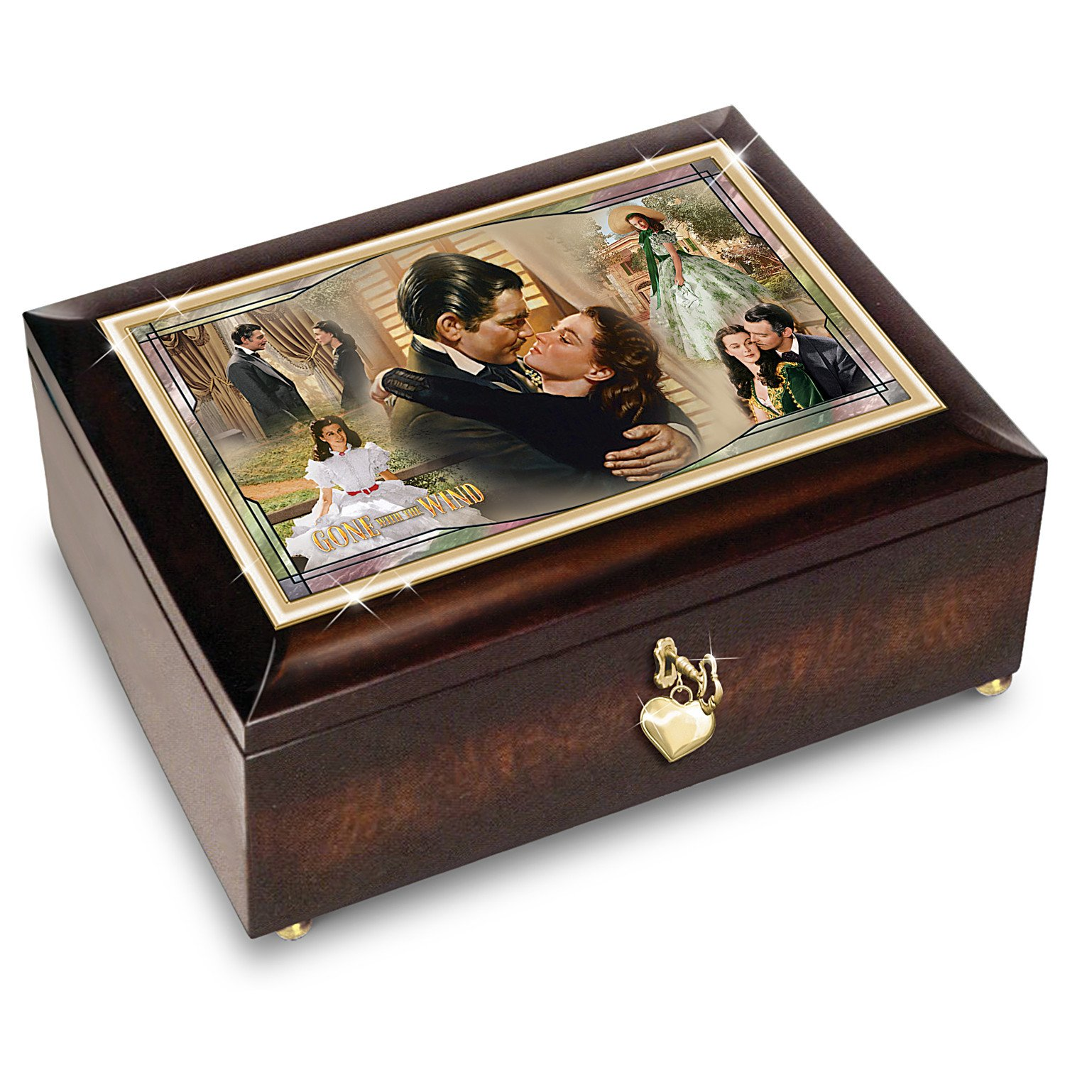 Amazon.com: Gone With The Wind Music Box With Movie Scenes Lights ...