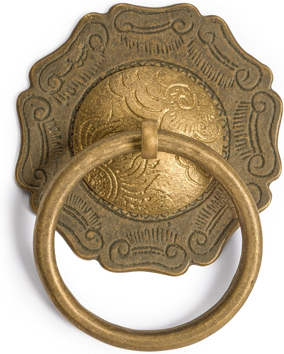 """Set of 2 CBH Chinese Brass Hardware Cabinet Ring Pulls 1.6/"""""""