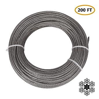 Amazon.com: Cable de acero inoxidable para avión, de calibre ...