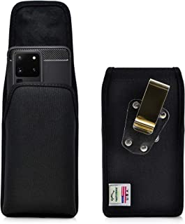 product image for Turtleback Belt Clip Case Designed for Galaxy S20 Ultra (2020) Vertical Holster Black Nylon Pouch with Heavy Duty Rotating Belt Clip, Made in USA