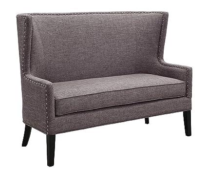 Peachy Amazon Com Benzara Nail Head Trim Wingback Design Love Seat Pabps2019 Chair Design Images Pabps2019Com