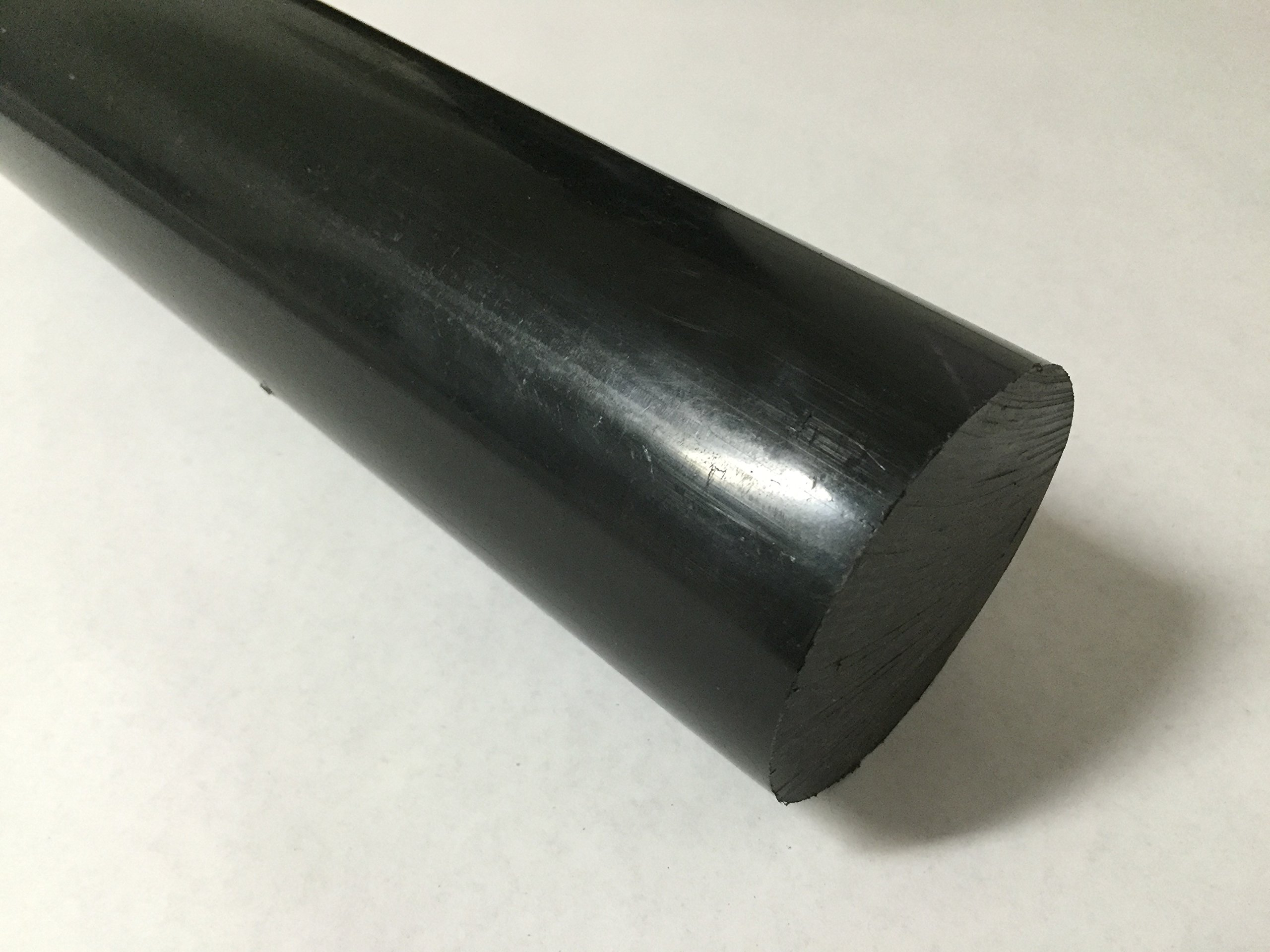 Acetal Copolymer Plastic Round Rod 2.5'' Diameter, 12'' Length - Black Color by Polymersan