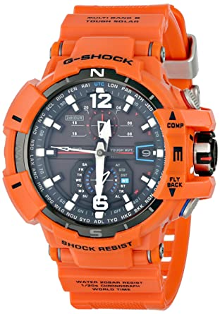 Amazon.com: Casio G-Shock Unisex Atomic Solar GWA1100 Orange Watch: Casio: Watches