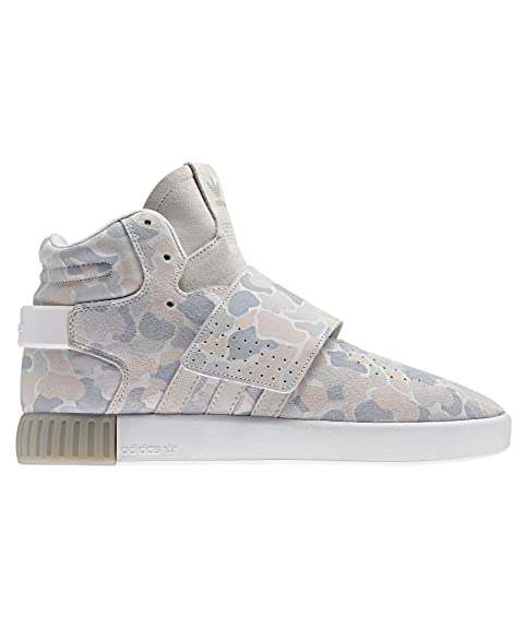 new arrival dcbb9 c847a adidas Originals Men s Tubular Invader Strap Ftwwht and Lgsogr Leather  Sneakers - 11 UK India