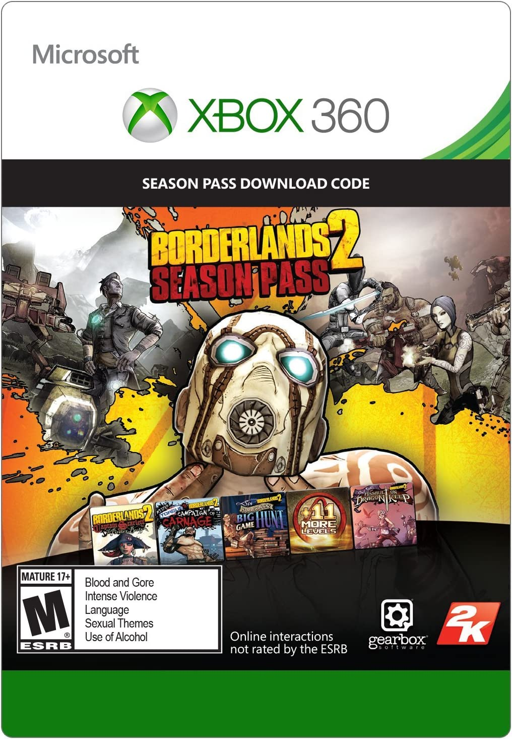 Amazon com: Borderlands 2 Season Pass - Xbox 360 Digital