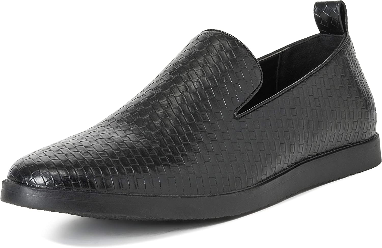 Hombres Queensberry Kingsley Tejido Verano Cuero Plano Ponerse Trabajo Zapatos