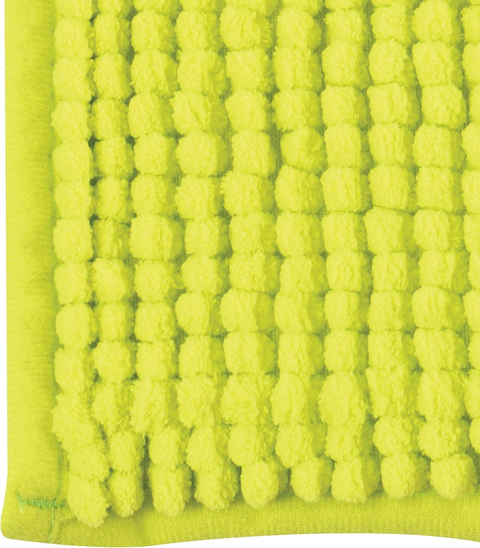 Black Microfibre 40 x 60 cm MSV Chenille Bath Mat
