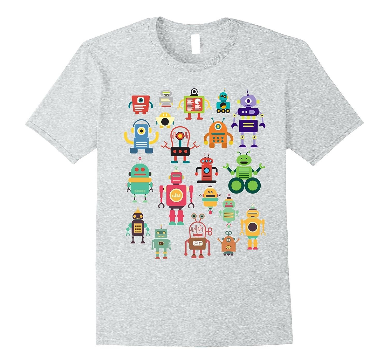 59053d50 Cute Retro Colorful Robot Collection T-shirt-BN – Banazatee