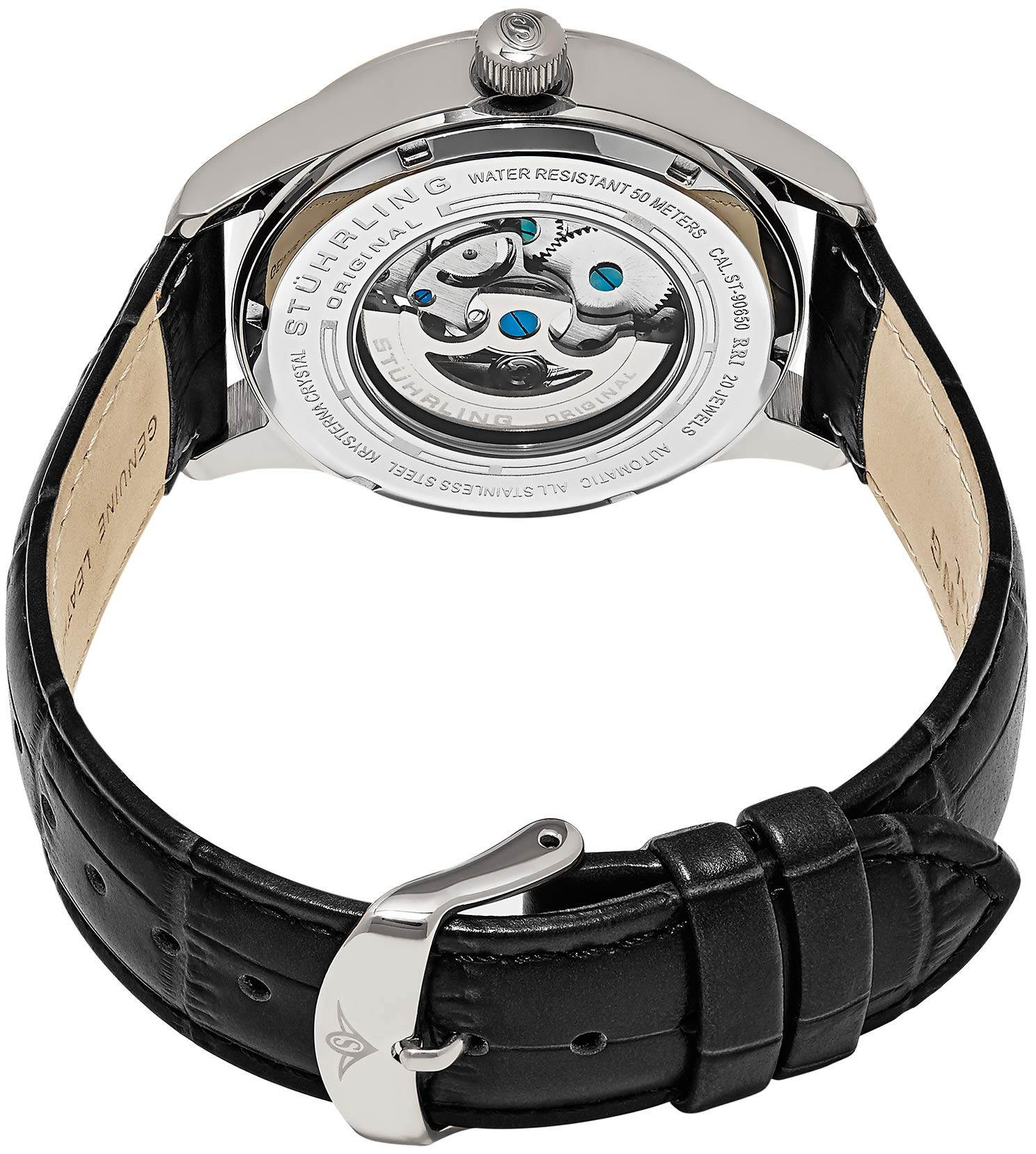 Stuhrling Original Mens''Specialty Atrium'' Skeleton Automatic Self Winding Dress Watch with Premium Leather Band by Stuhrling Original (Image #7)