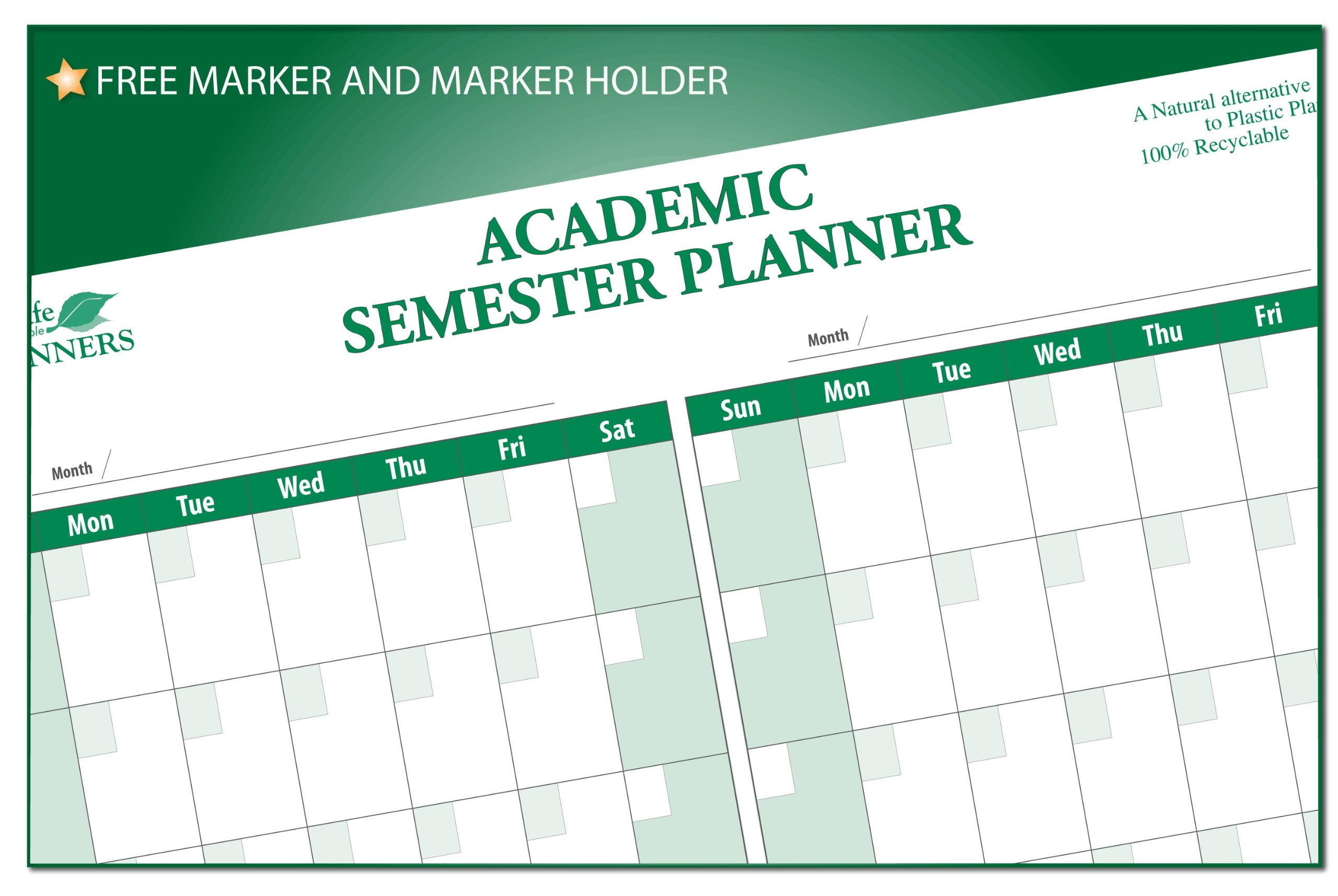 College Student's Semester Undated Calendar