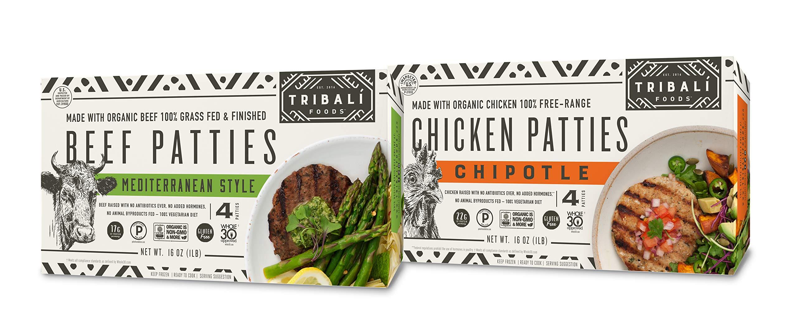 TRIBALI FOODS Beef Patty Umami Style S0, 16 OZ