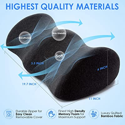 CONTOUR MEMORY FOAM LEG PILLOW ORTHOPAEDIC PILLOW BACK HIPS KNEE SUPPORT BAMBOO