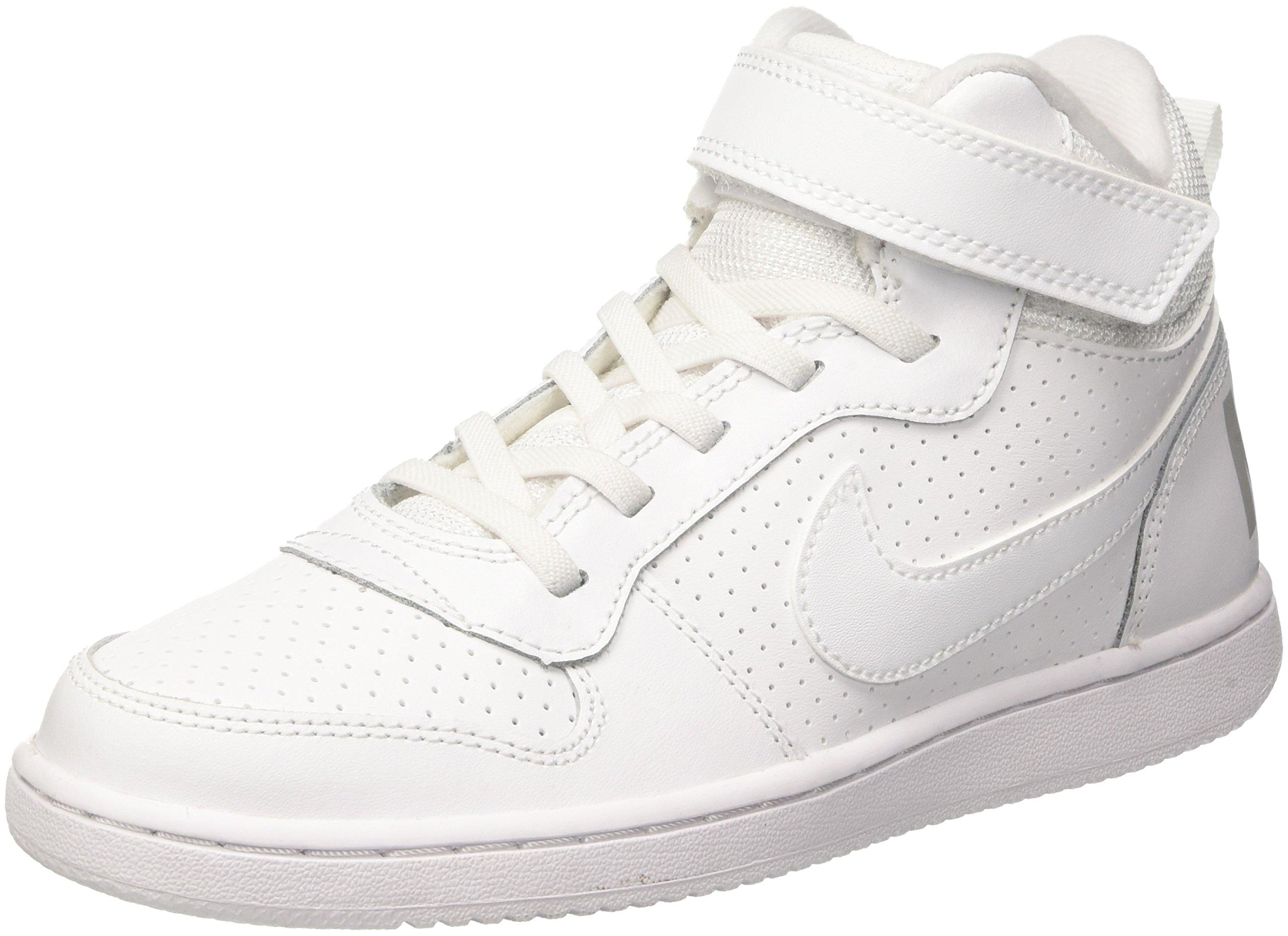 Nike Kids Court Borough MID (PS) White White