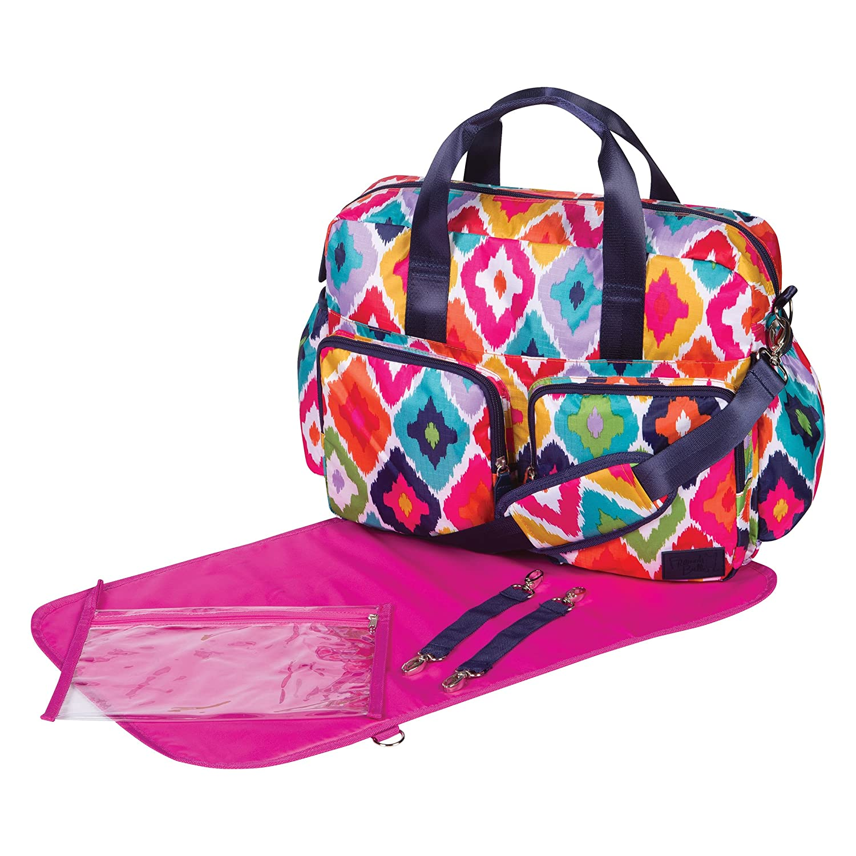 Trend Lab French Bull Deluxe Duffle Diaper Bag, Kat