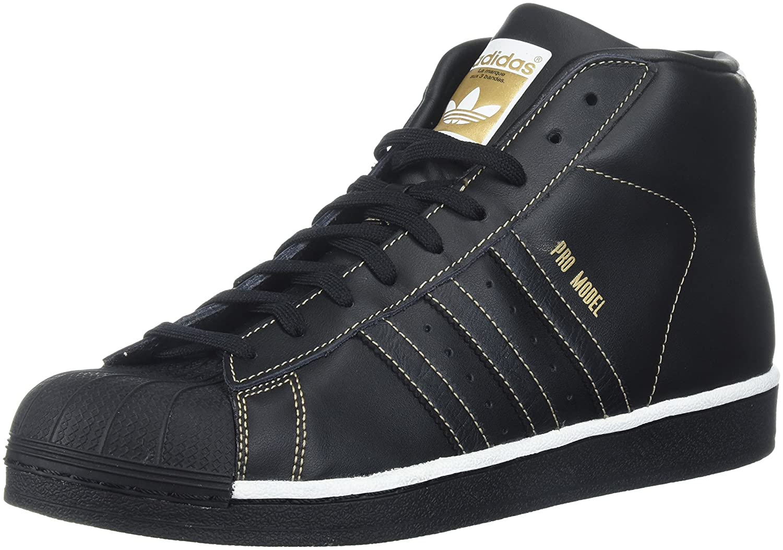 adidas Men's Pro Model, White/Super Purple/Gold Metallic, 8.5 M US B01N6J44RY 7.5 D(M) US Black/White/Tactile Gold