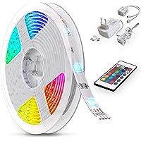 B.K.Licht LED Stripes, 5m Stripe, lint, strepen, LED strip, LED light strip, LED linten, fairy lights LED, wit, gekleurd…