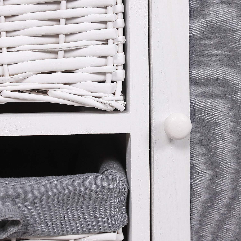 Rebecca Mobili Mueble para coser, tabla de planchar, ahorra espacio, estilo shabby, gris blanco, lavaderos cocina- Medidas: 84 x 119 x 35 cm (AxANxF) ...