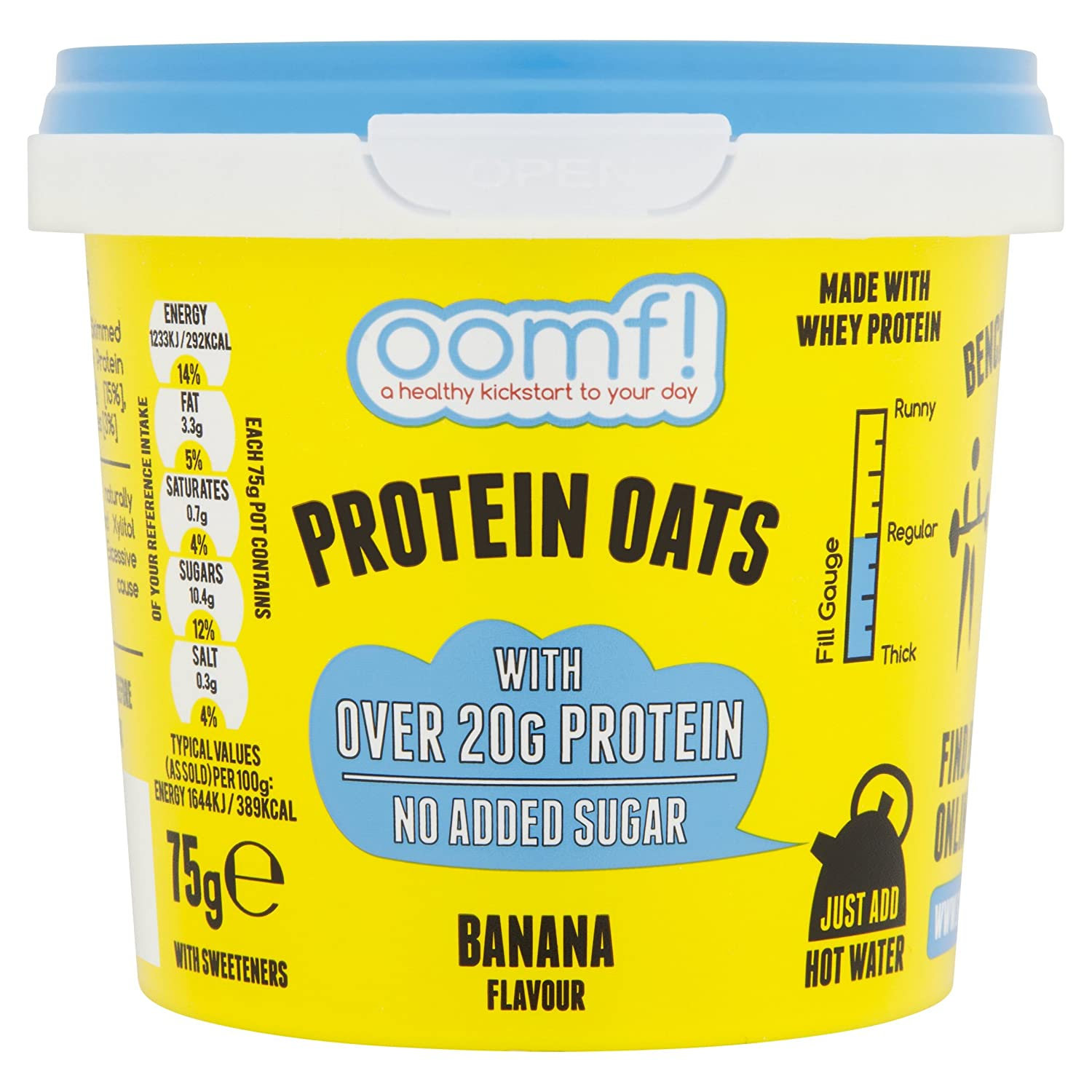 Bench Pressed Oats Banana Instant Whey Protein Porridge (Pack of 8) GroceryCentre