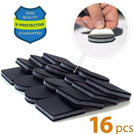 NON SLIP FURNITURE PADS PREMIUM 16 Pcs 2u201d! Best SelfAdhesive Furniture  Grippers U2013 Furniture