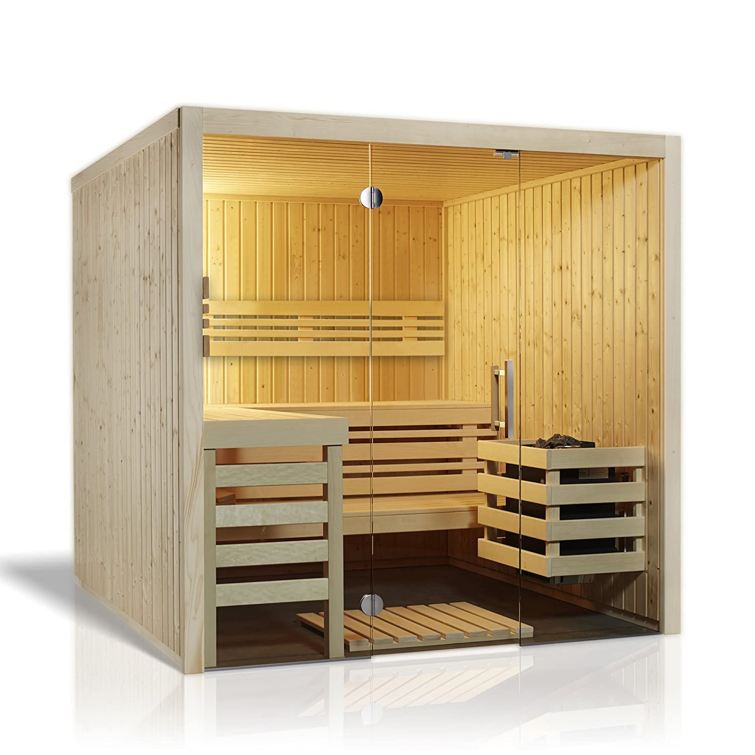 Infraworld - Sauna Panorama 180 Element Sauna 210 x 180 cm en Norte. Abeto 391071: Amazon.es: Jardín