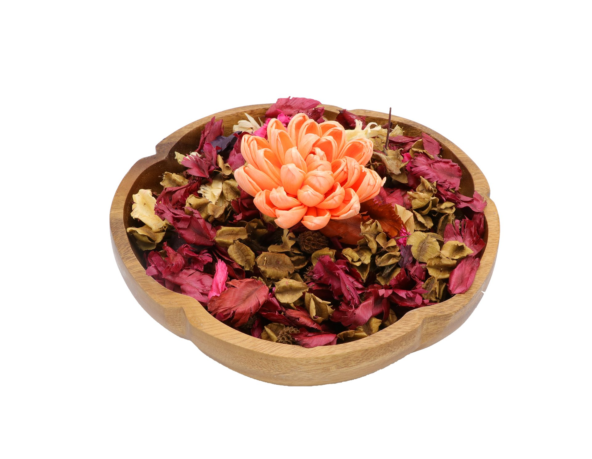 The Ambient Collection Decorative Scented Potpourri orange flower by The Ambient Collection