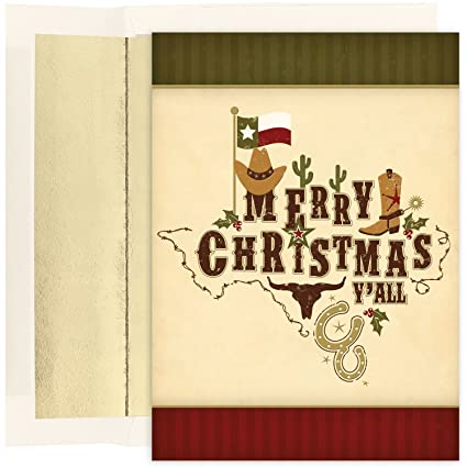 masterpiece studios boxed cards 18 count merry christmas yall 836000