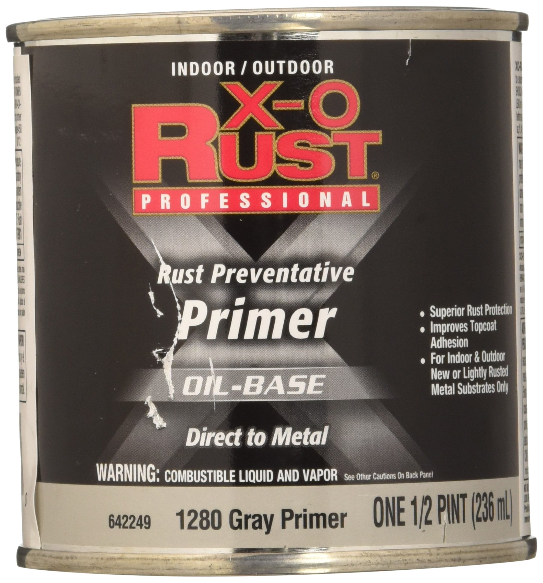 True Value 1280-HP Grey Premium X-O Anti Rust Enamel, 1/2-Pint