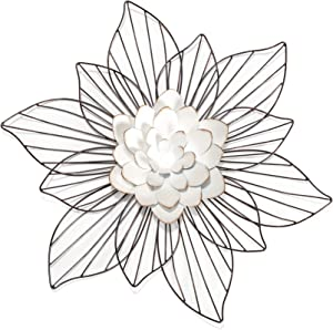 Leith Layered Floral Metal Wall Art