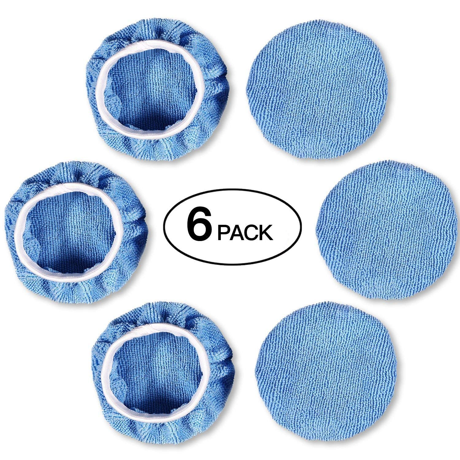 Zoiibuy Bonnet de polissage, Lot de 6 Kit Auto Polissage en Laine Tapis de Polissage Cirage pour Voiture (12,5-15CM)