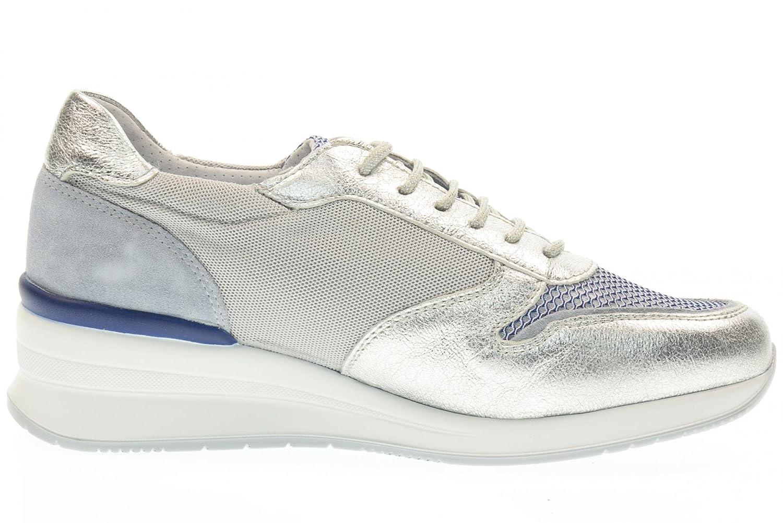 ValleGrün Turnschuhe V17704 Schuhe mit Keil V17704 Turnschuhe Silber 43f052