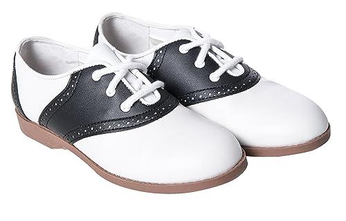 746f78f99982e Hip Hop 50s Shop Child Girls Saddle Oxford Shoes
