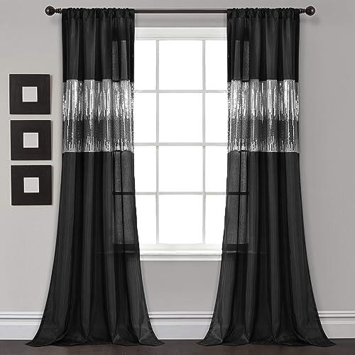 Lush Decor Night Sky Window Curtain Single Panel