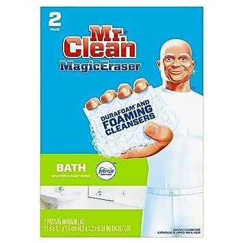 Mr. Clean Magic Eraser Bath, Cleaning Pads With Durafoam, Meadows U0026 Rain,