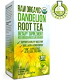 Dandelion Root Tea - Raw Organic Vitamin Rich Digestive - 1 Pack (20 Bags, 2g Each) - Detox Tea - Helps Improve Digestion and Immune System - Anti-inflammatory and Antioxidant - By Kiss Me Organics
