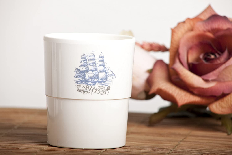 dise/ño Clipper blanco Cartaffini Velero Vaso apilable 280 ml