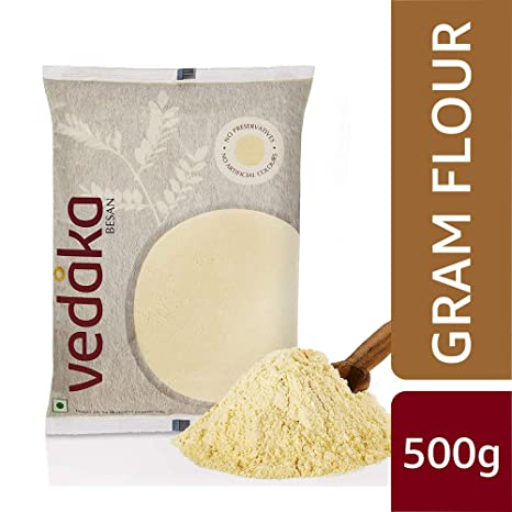 Amazon Brand - Vedaka Gram Flour (100% Chana Besan), 500 g